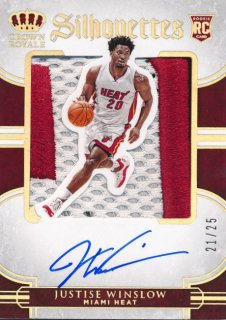 Rookie Star RS79様 2015-16 PANINI PREFERRED RC Silhouettes Patch Auto Justise Winslow 25枚限定