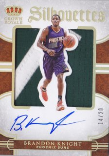 2015-16 Panini Preferred Brandon Knight Shilhouetter Autograph Prime 20枚限定 ポニーランド MM様