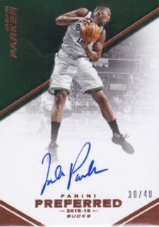 2015-16 Panini Preferred Jabari Parker Auto 40枚限定 ポニーランド MM様
