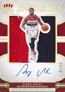 2015-16 PANINI PREFERRED Silhouettes Patch Auto Gary Neal 【25枚限定】Rookie Star RS54様