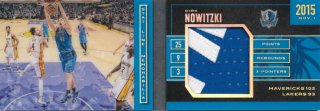 2015-16 PANINI PREFERRED Booklet Patch Dirk Nowitzki 【25枚限定】Rookie Star RS60様