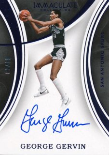 2015-16 PANINI IMMACULATE COLLECTION Blue Auto George Gervin 【10枚限定】Rookie Star RS61様