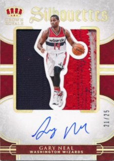 2015-16 PANINI PREFERRED Silhouettes Patch Auto Gary Neal 【25枚限定】Rookie Star RS82様