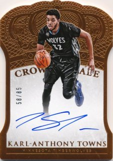 2015-16 PANINI PREFERRED RC Auto Karl-Anthony Towns 【85枚限定】Rookie Star RS2様