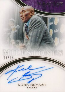 2015-16 PANINI IMMACULATE COLLECTION Milestone Auto Kobe Bryant 【25枚限定】Rookie Star RS5様