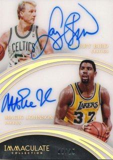 2015-16 PANINI IMMACULATE COLLECTION Acetate Dual Auto L. Bird M. Johnson 【25枚限定】Rookie Star RS12様