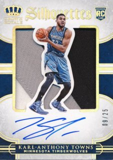 2015-16 PANINI PREFERRED RC Silhouettes Patch Auto Karl-Anthony Towns 【25枚限定】Rookie Star RS54様