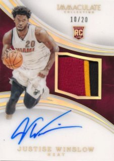 2015-16 PANINI IMMACULATE COLLECTION RC Acetate Patch Auto J. Winslow 【20枚限定】Rookie Star RS60様