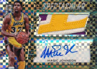 2015-16 PANINI SPECTRA Black Prizm Patch Auto Magic Johnson 【1枚限定】Rookie Star RS83様