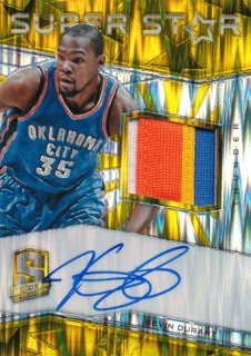 2015-16 PANINI SPECTRA Gold Prizm Patch Auto Kevin Durant 【10枚限定】Rookie Star RS83様