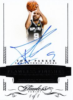 2015-16 Panini Flawless 2014-15 Flawless Recollection Tony Parker【1枚限定】ミント札幌店 よし様