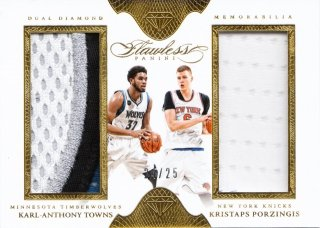 2015-16 Panini Flawless Dual Diamond Memora Karl-Anthony Towns/ Kristaps Porzingis【25枚限定】ミント札幌店 よし様