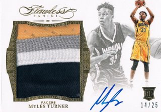 2015-16 PANINI FLAWLESS Star Swatch Signatures Myles Turner 【25枚限定】 / MINT新宿店 ロールズ様