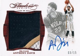 2015-16 PANINI FLAWLESS Star Swatch Signatures Ruby Anthony Davis 【15枚限定】 / MINT新宿店 ロールズ様