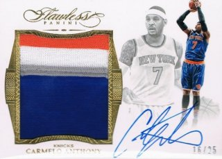 2015-16 PANINI FLAWLESS Star Swatch Signatures Carmelo Anthony 【25枚限定】 / MINT新宿店 ロールズ様