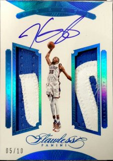 2015-16 PANINI FLAWLESS Greats Dual Memorabilia Auto Sapphire Kevin Durant 【10枚限定】 / MINT新宿店 ロールズ様