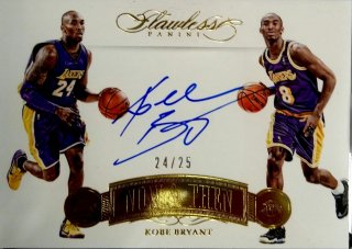 2015-16 PANINI FLAWLESS Now and Then Signatures Kobe Bryant 【25枚限定 ※JSYナンバー!】 / MINT新宿店 ロールズ様