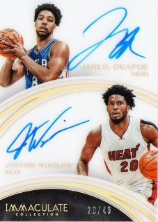 2015-16 Panini immaculate Dual Autographs Justise Winslow /Jahlil Okafor 【49枚限定】ミント札幌店 うなぎ様