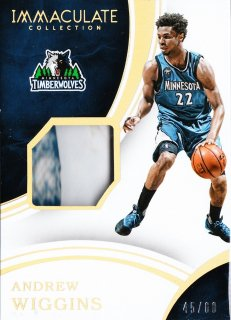 2015-16 Panini immaculate Sneaker Swatches  Andrew Wiggins【60枚限定】ミント札幌店 うなぎ様