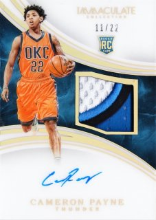 2015-16 Panini immaculate Rookie Patch Autographs Gold Cameron Payne 【22枚限定】ミント札幌店 うなぎ様