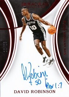 2015-16 Panini immaculate Signatures Red David Robinson【25枚限定】ミント札幌店 うなぎ様