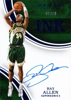 2015-16 Panini immaculate Ink Autographs Bule Ray Allen 【10枚限定】ミント札幌店 うなぎ様