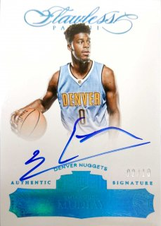 2015-16 PANINI Flawless Rookie Autographs Sapphire Emmanuel Mudiay 【10枚限定】/MINT立川店 あよ様