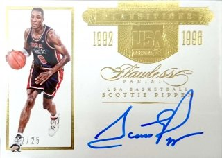 2015-16 PANINI Flawless Transitions Autographs Scottie Pippen USA【25枚限定】/MINT立川店 あよ様