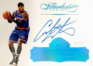 2015-16 PANINI Flawless Flawless Autographs Sapphire Carmelo Anthony 【10枚限定】/MINT立川店 あよ様