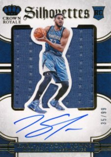2015-16 PANINI PREFERRED RC Silhouettes Jersey Auto Karl-Anthony Towns 99枚限定 Rookie Star RS16様