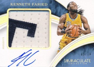 2015-16 PANINI IMMACULATE COLLECTION Patch Auto Kenneth Faried 10枚限定 Rookie Star RS83様