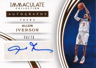 2015-16 PANINI IMMACULATE COLLECTION Auto Allen Iverson 73枚限定 Rookie Star RS85様