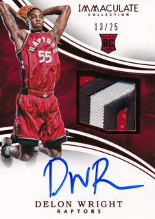 2015-16 PANINI IMMACULATE COLLECTION RC Red Patch Auto Delon Wright 25枚限定 Rookie Star RS85様
