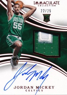 2015-16 PANINI IMMACULATE COLLECTION RC Red Patch Auto Jordan Mickey 25枚限定 Rookie Star RS85様