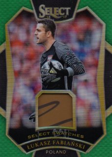 2016-17 PANINI Select Green Parallel Swatches Lukasz Fabianski 【5/5 Last NO.】 / MINT池袋店 ミリク様