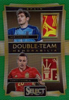2016-17 PANINI Select Green Memorabilia I.Casillas / S.Cazorla 【5/5 Last NO.】 / MINT池袋店 トシくん様