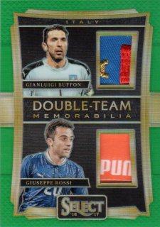 2016 2016 Select Double Team Memorabilia Green Giuseppe Rossi/Gianluigi Buffon【5枚限定】 ミント千葉店 ナッツ様
