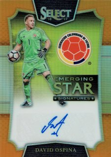 2016-17 PANINI Select Emerging Star Signatures Orange David Ospina 【75枚限定】/MINT立川店 としくん様