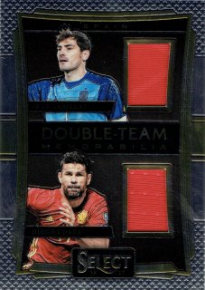 2016-17 PANINI Select Double Team Memorabilia Iker Casillas Diego Costa /MINT立川店 としくん様