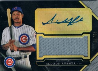 2016 TOPPS TRIPLE THREADS Unity Autograph Jumbo Relics Silver Addison Russell 【75枚限定】 / MINT新宿店 ヤマダ様
