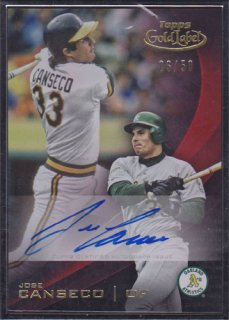 2016 Topps Gold Label Jose Canseco Black Flamed Auto 50枚限定 ポニーランド MZ様