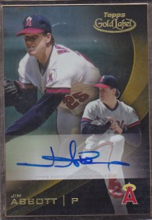 2016 Topps Gold Label Jim Abbott Auto ポニーランド FF様