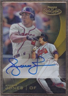 2016 Topps Gold Label Andrew Jones Auto ポニーランド K様