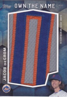 2016 Topps Update Jacob DeGrom Own The Nama Patch 1枚限定 ポニーランド YY様