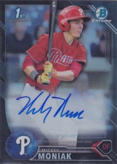 2016 Bowman Draft Mickey Moniak Black Refractor Auto card 75枚限定 ポニーランド 水越様