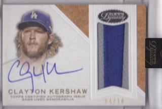 2016 Topps Dynasty Calyton Kershaw Patch Auto 10枚限定 ポニーランド MM様