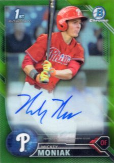 2016 Bowman Draft Autograph Card (Green Ref) Mickey Moniak 【99枚限定】 梅田店 BOWMANキング様