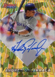 2016 Bowman's Best 「1996 Bowman's Best」 Autograph Andres Galarraga 【25枚限定】 梅田店 マリス様