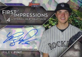 2016 Bowman's Best First Impressions Autograph Riley Pint 【50枚限定】 梅田店 ブラッドオレンジ様