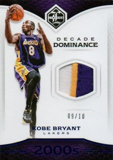 2016-17 PANINI Limited Prime Decade Dominance Materials Kobe Bryant 【10枚限定】 / MINT池袋店 ジョーカー様